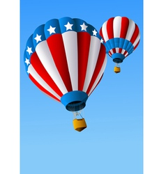 Hot air balloons 4 july background vector