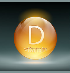 Icon vitamin d vector