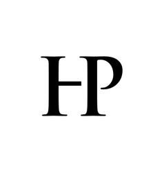 initial hp alphabet logo design template vector image