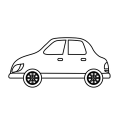 Isolated car symbol vector image