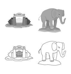 Isolated object nature and fun sign set of vector