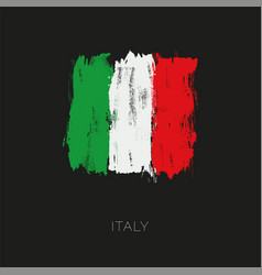 italy colorful brush flag vector image