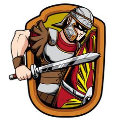 Legionnaire soldier mascot vector