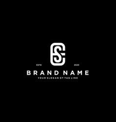 Letter se logo design vector