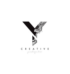 Letter y logo design icon with artistic grunge vector