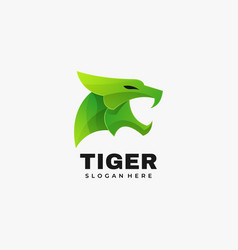 logo tiger gradient colorful style vector image