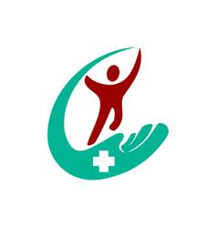 Medical health care clinic solution logo vector