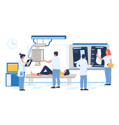 medical xray test leg bone fracture injury vector image