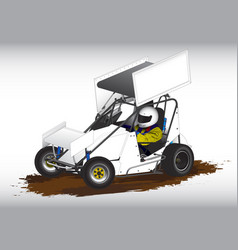 Micro sprint sprint car vector