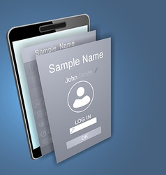 Mobile app screens over mobile phone device vector