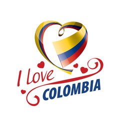 national flag colombia in shape a vector image
