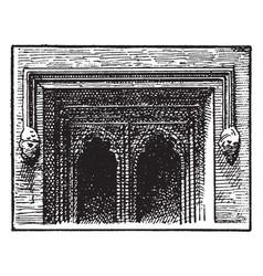 Newarke gateway leicester window or gateway on vector