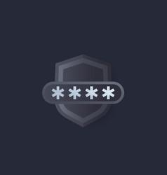 Password access computer security vector