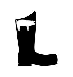 Pigskin boots vector