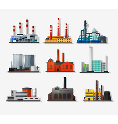 Power plants vector