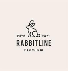 Rabbit hare bunny line monoline hipster vintage vector