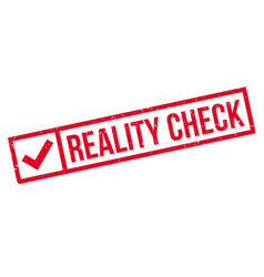 Reality check rubber stamp vector