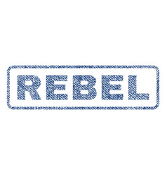 Rebel textile stamp vector
