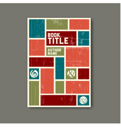 Retro vintage abstract brochure book flyer vector