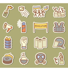 Revolution icons vector