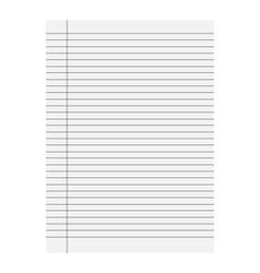 Sheet icon of school vector