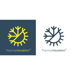 thermal insulation icon vector image