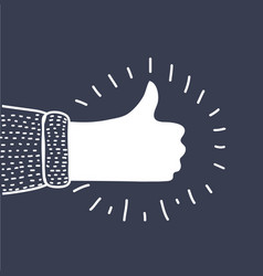 thumb up icon success symbol vector image