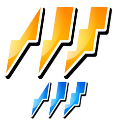 Thunderbolt lightening icons vector
