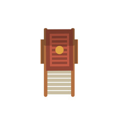 Top view beach chair isolated icon vector