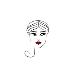 turban hat girl icon element beautiful girl in vector image