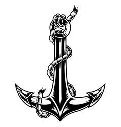 vintage monochrome ship anchor vector image