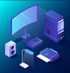 wireless device smart home pc technology vector image
