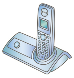Wireless telephone vector image