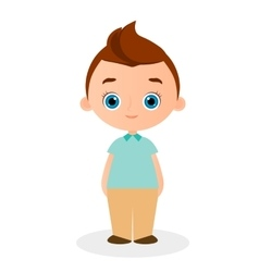 Young Boy eps 10 isolated on vector image