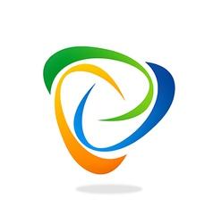 abstract swirl circle logo vector image
