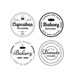 Bakery and cupcakes labels vector image