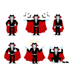 Dracula set of movements Vampire collection of vector image vector image