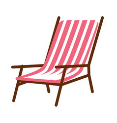 Simple striped lounge vector