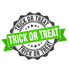 trick or treat stamp sign seal vector image