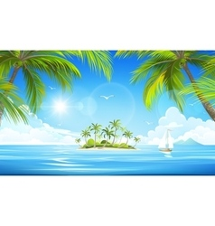 Tropical island vector image vector image
