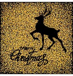 black deer on gold vector image vector image