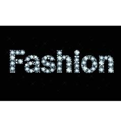 Diamond word fashion vector image vector image