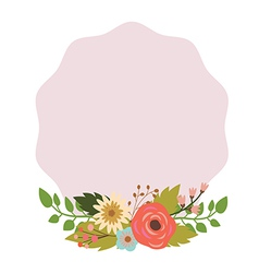 Elegant frame with bouquet vector image vector image