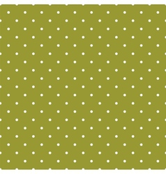Green tile background with polka dots vector image vector image