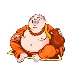 Smiling monk vector image