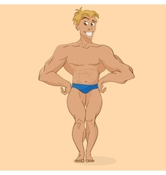 smiling muscular man athletic trainer vector image vector image