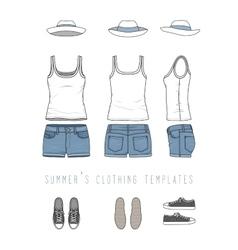 Female clothing set vector