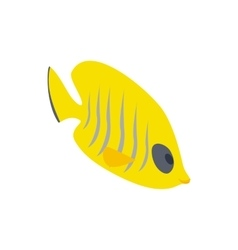 Fish yellow tang icon isometric 3d style vector image vector image