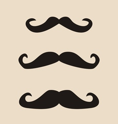 Mustache vintage set vector image vector image