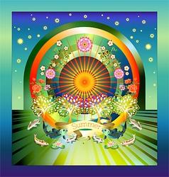 mystical summertime vector image